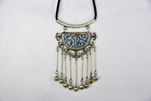 Pendant - Half-circle with decorative borders and dangling bells