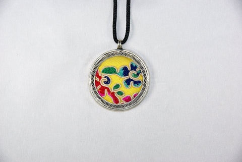 Pendant - Circular Embroidery patch