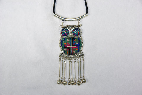 Pendant - Cute Owl with dangles
