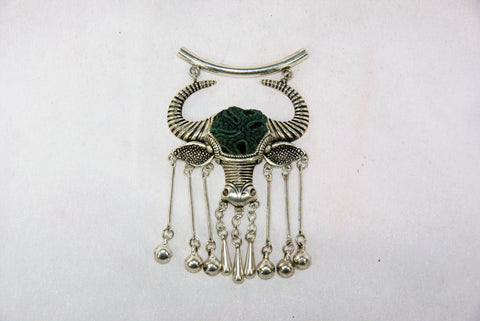 Pendant - Bull with dangle and bells
