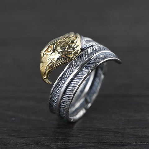 large silver ring