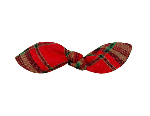 Christmas Plaid Plaid Hair Bow