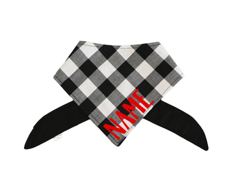 Glamour Pup Black and White Striped Bandana