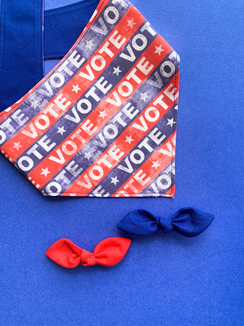 Vote Patriotic Election Dog Bandana