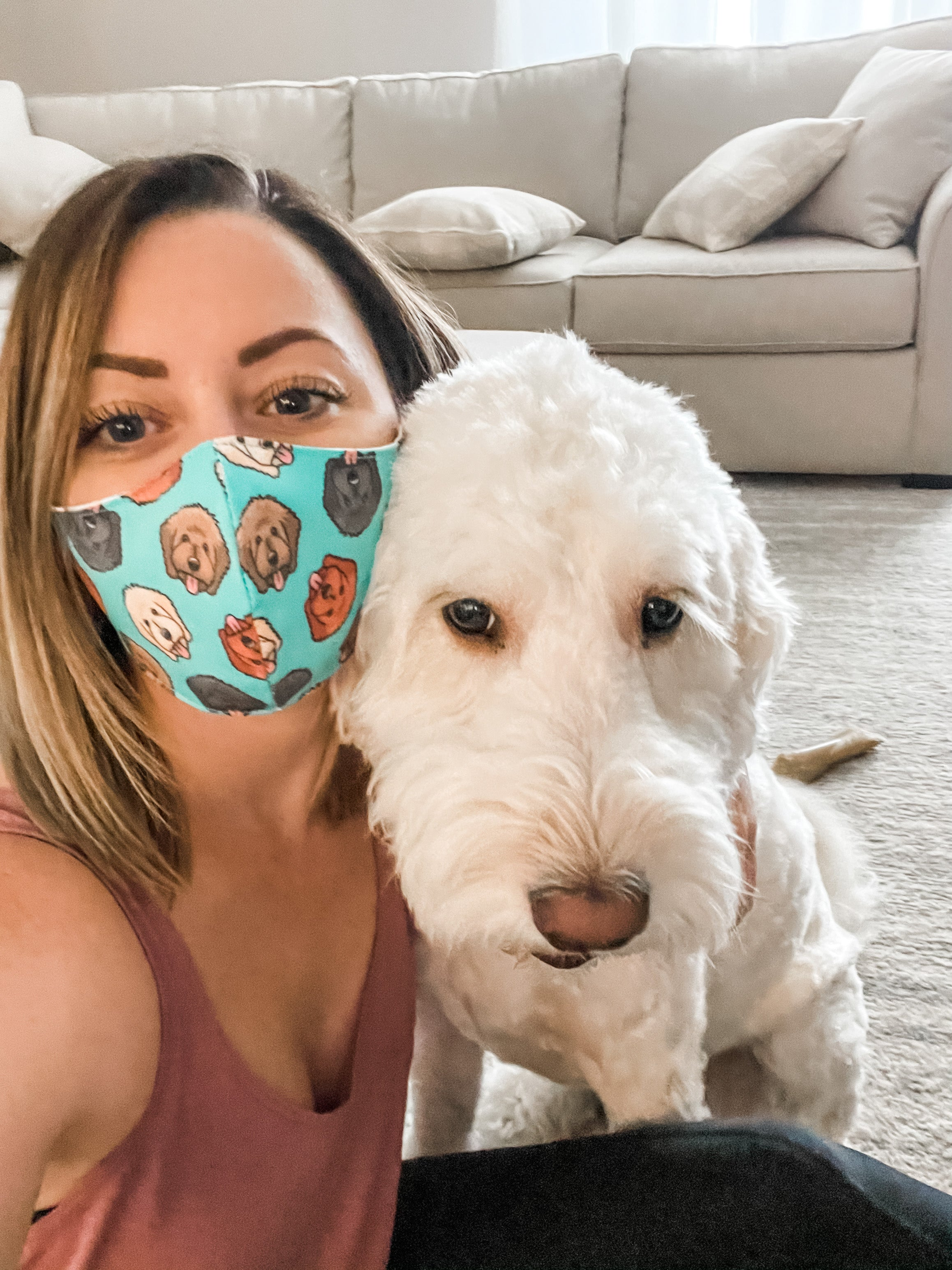 Doodle Adjustable Face Mask