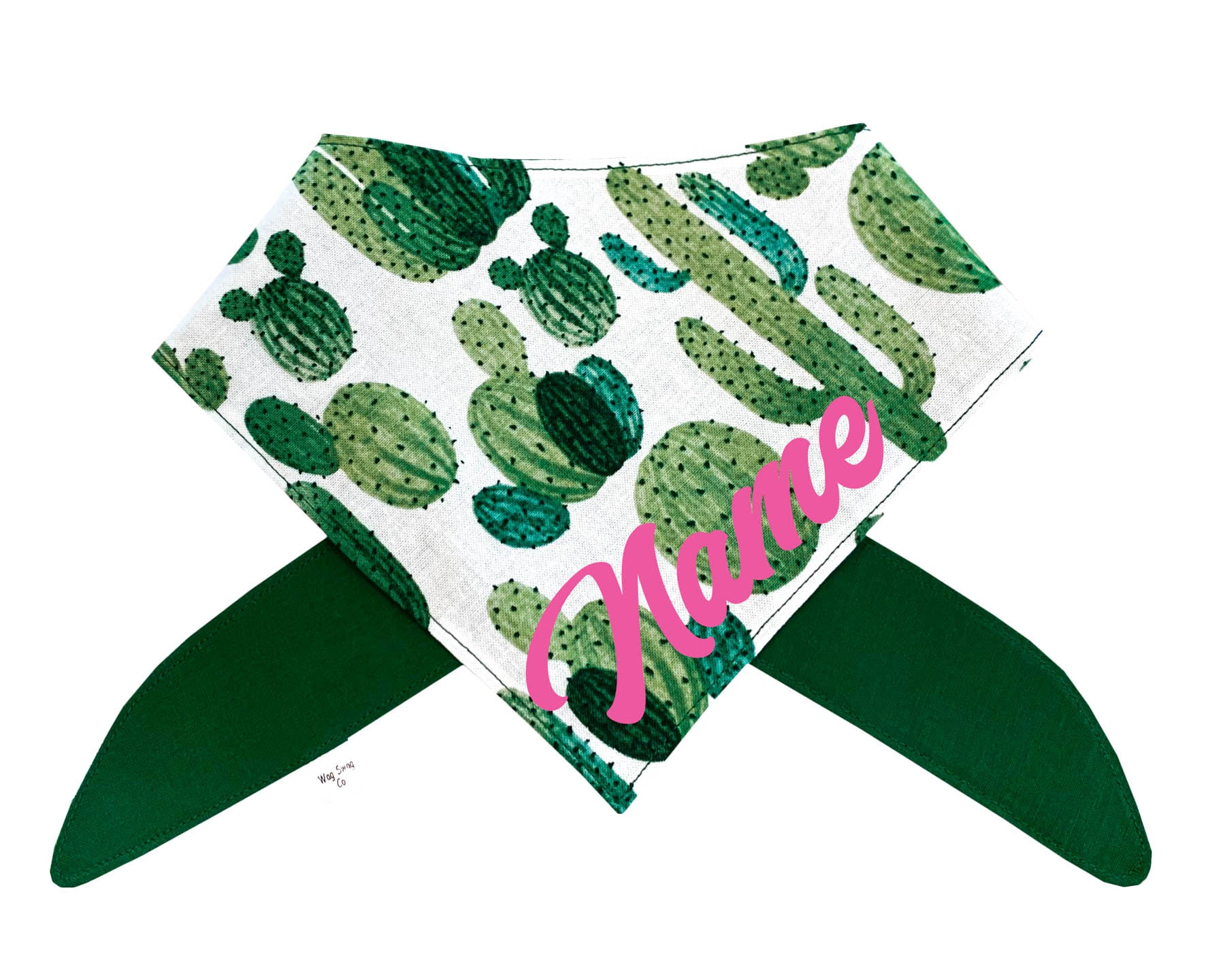 Looking Sharp! Cactus Bandana *Font Color Options Avail*