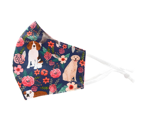 Dog Floral Adjustable Face Mask