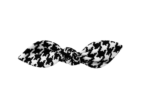 Black and White Houndstooth Hair Bow