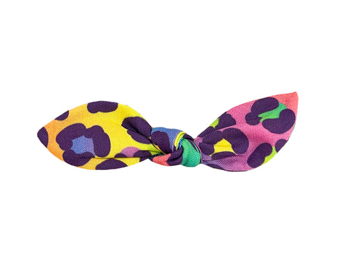 Lisa Frank Inspired Rainbow Cheetah Hair Bow