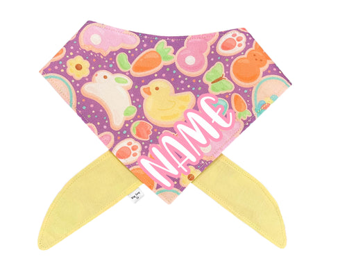 Easter Cookies Bandana *Font Color Options*