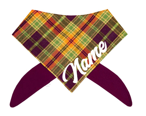 Harvest Plaid Bandana
