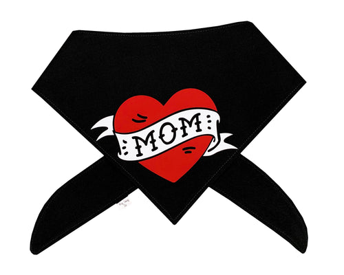 Mom Heart Tattoo Bandana