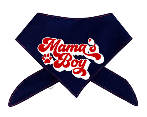 Mama's Boy Bandana | Navy, White, and Red Color