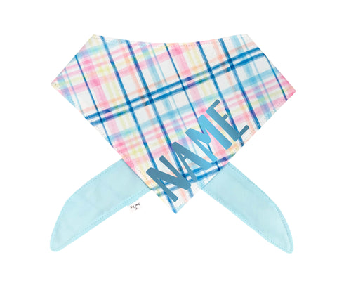 Easter Plaid Bandana | Two Font Color Options