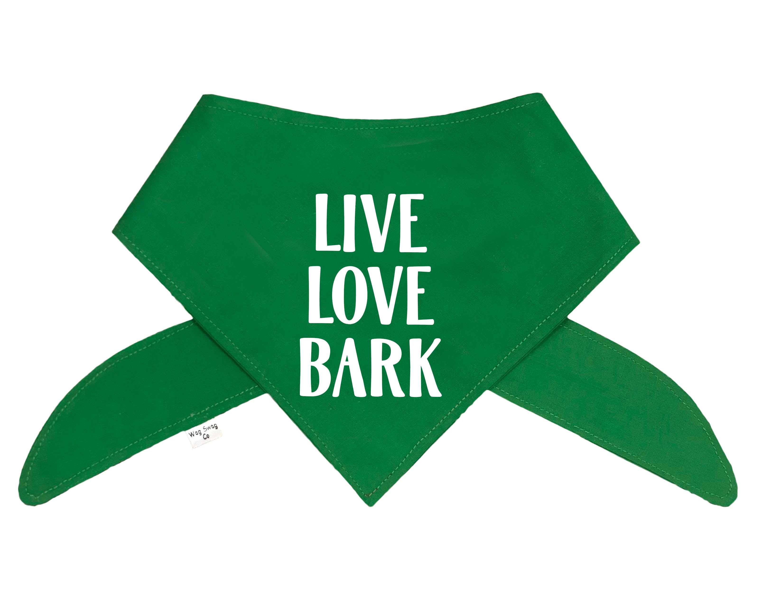 Live Love Bark Bandana - Color Options Avail. (No Personalization)