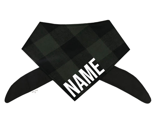 Green Buffalo Plaid Bandana