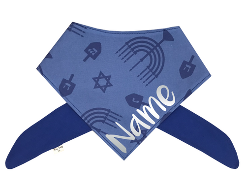 Hanukkah - Menorah, Dreidel, Star of David Bandana