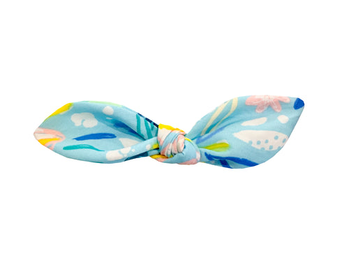 Blue Floral Daze Hair Bow