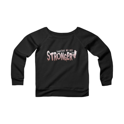 STRONGER [ in ] Pink • Sponge Fleece Wide Neck Sweatshirt