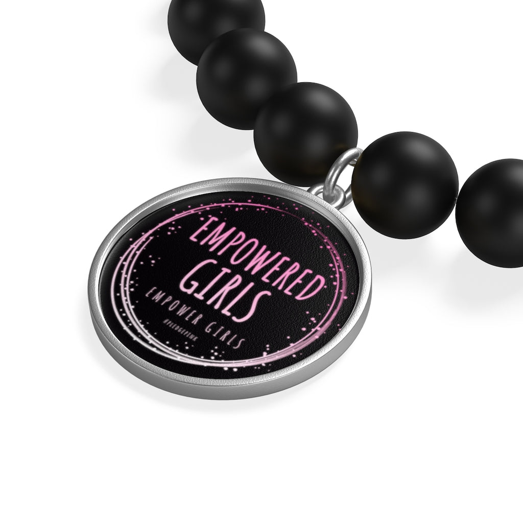 EMPOWERED GIRLS! Matte Onyx Bracelet