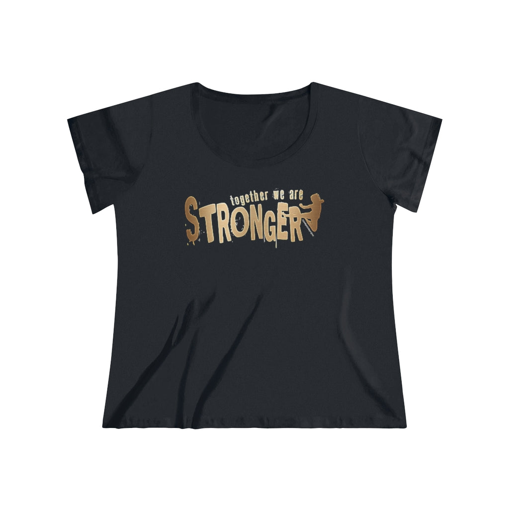 STRONGER [ in ] GOLD • Curvy Tee