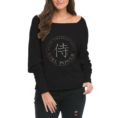 GIRL POWER! Sponge Fleece Wide Neck Sweatshirt