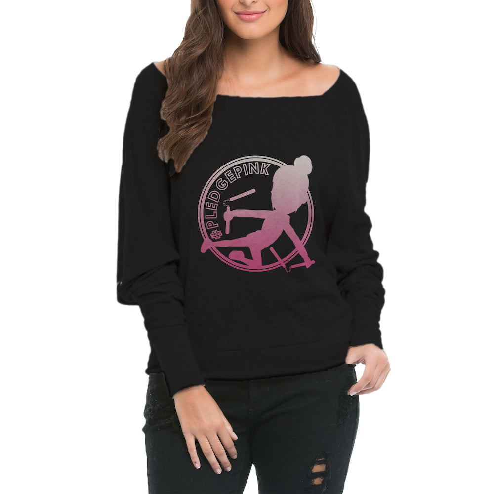 #PLEDGEPINK Official • Sponge Fleece Wide Neck Sweatshirt