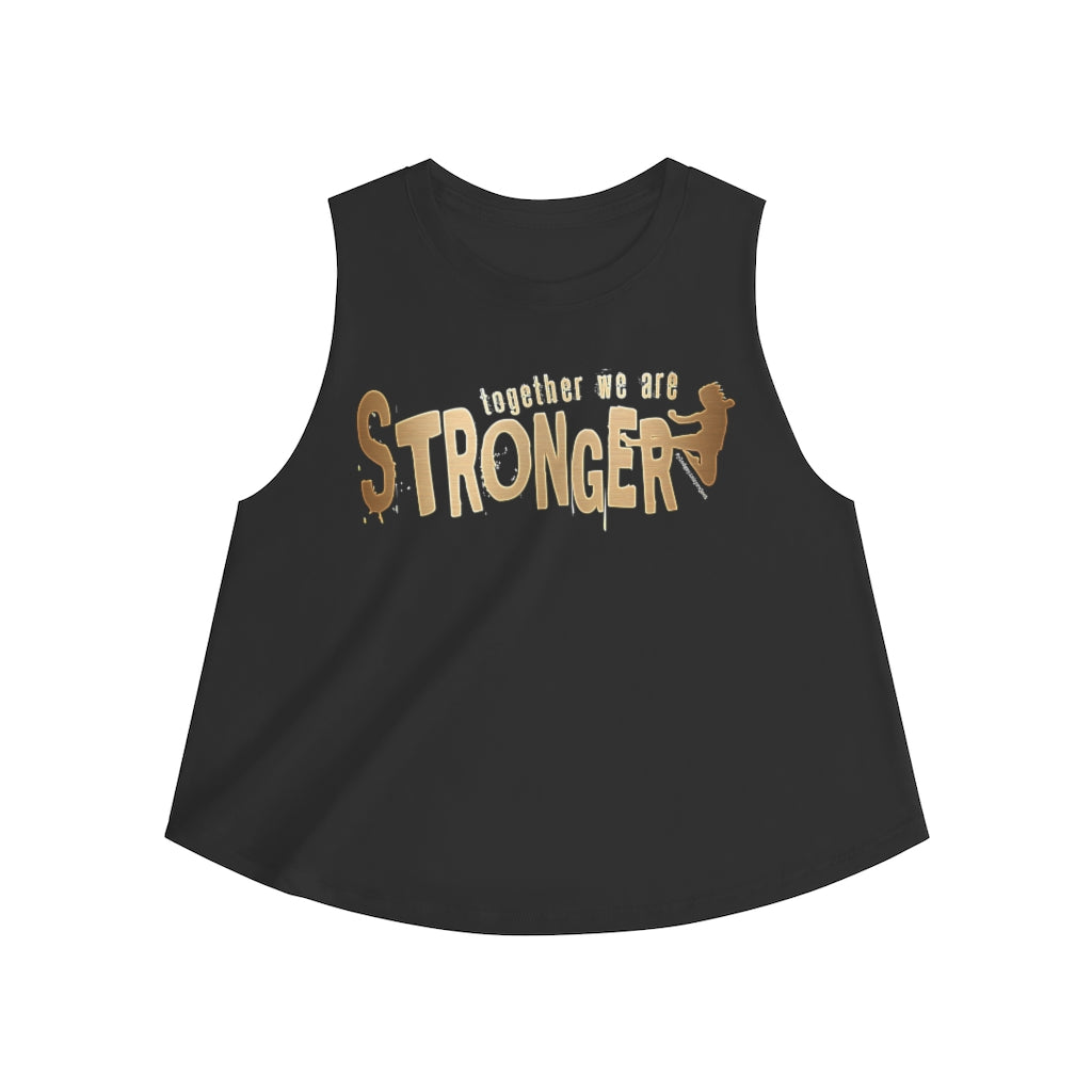 STRONGER [ in ] GOLD • Crop top