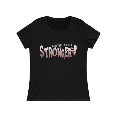 STRONGER [ in ] PINK • Relaxed Jersey Short Sleeve Scoop Neck Tee