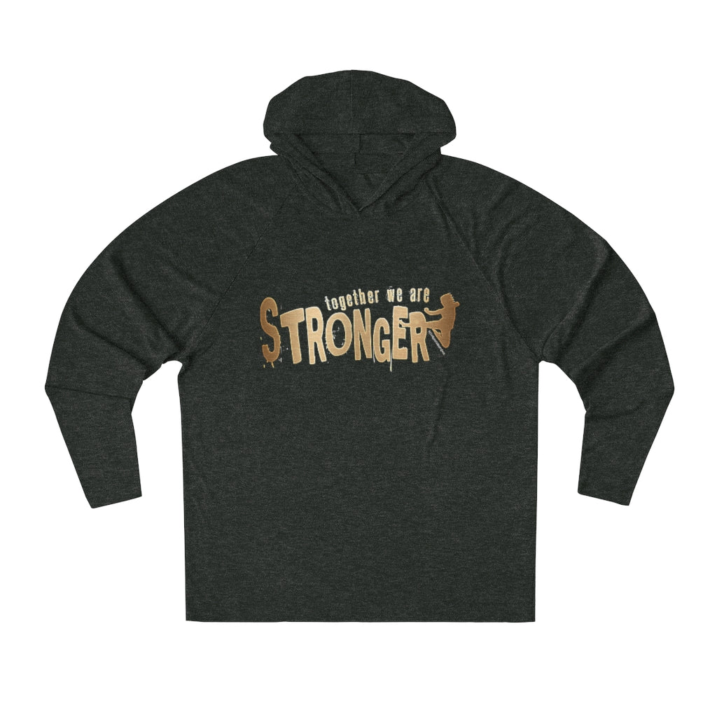 STRONGER [ in ] GOLD • Tri-Blend Hoodie