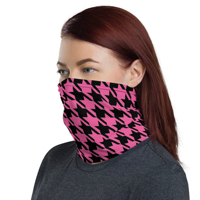 HOUNDSTOOTH [in] PINK • Neck Gaiter