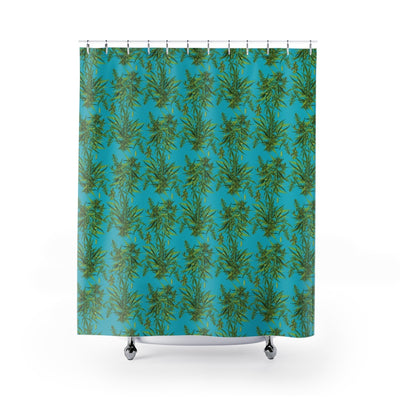Cannabis Sativa Shower Curtain-Shower Curtains-Eat me!