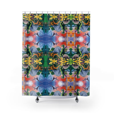Dino Shower Curtain-Shower Curtains-Eat me!