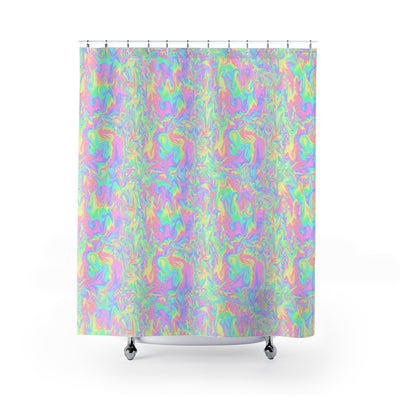 Acid Pastel Shower Curtain-Shower Curtains-Eat me!