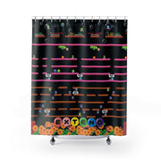 Bubble Bobble Shower Curtain-Shower Curtains-Eat me!