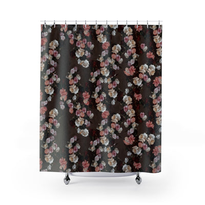 New Order Floral Shower Curtain-Shower Curtains-Eat me!
