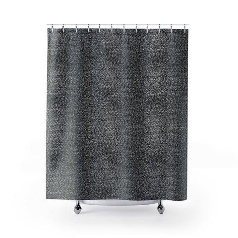 Whitenoise Shower Curtain-Shower Curtains-Eat me!