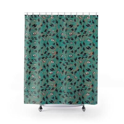 De la Soul VS Pavement Shower Curtain-Shower Curtains-Eat me!