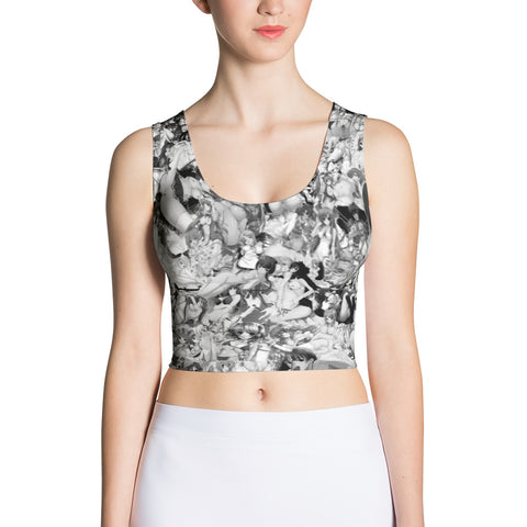 Hentai Black and White Crop Top-Crop Tops-Eat me!