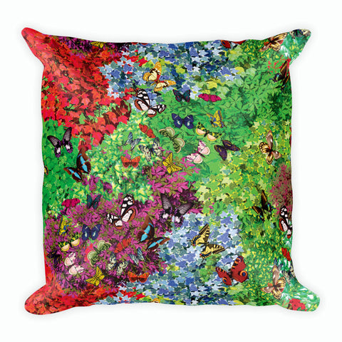 Plants & Butterflies Pillow-Pillow Cases-Eat me!