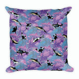 Whales & Dolphins Pillow | Cojín Ballenas y Delfines-Pillow Cases-Eat me!