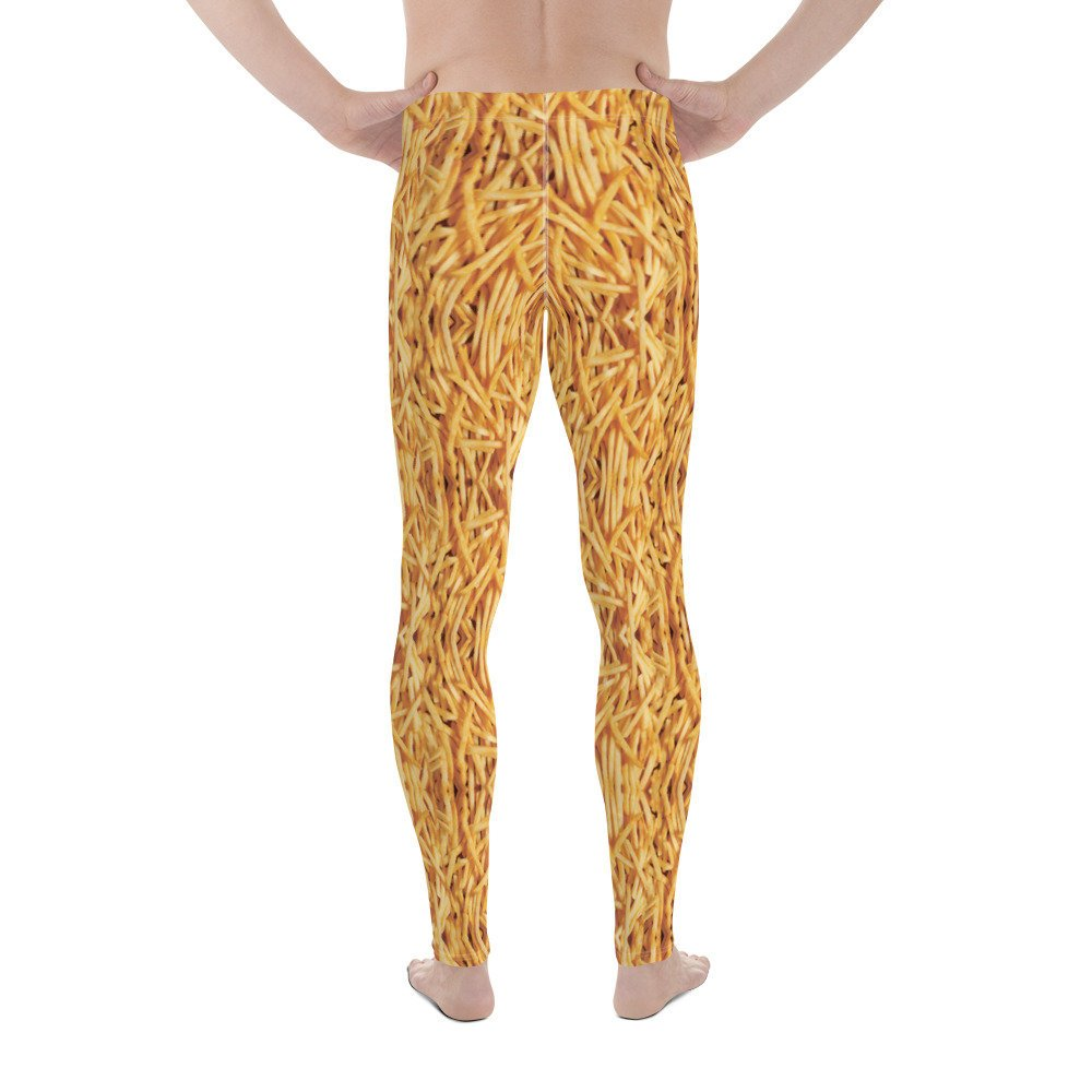 French Fries Men's Leggings-Meggings-Eat me!