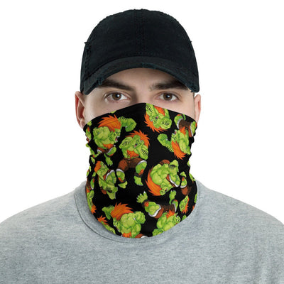 12 in 1 Blanka Street Fighter Neck Gaiter Face Mask-Neck Gaiter-Eat me!
