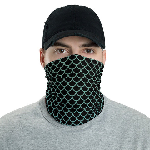 12 in 1 Black Mermaid Neck Gaiter Face Mask-Neck Gaiter-Eat me!