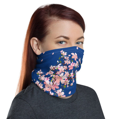 12 in 1 Cherry Blossom Japanese Flowers Neck Gaiter Face Mask-Neck Gaiter-Eat me!