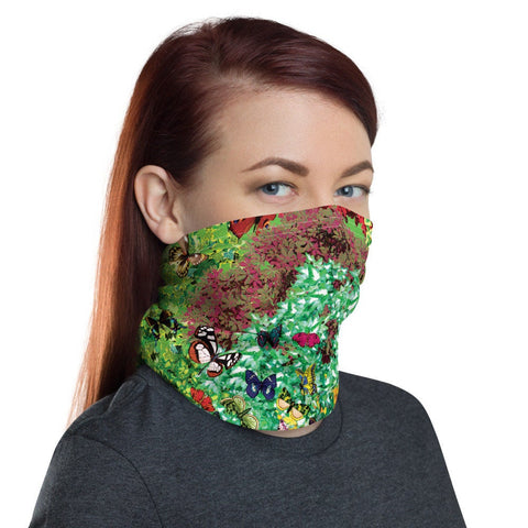 12 in 1 Plants & Butterflies Neck Gaiter Face Mask-Neck Gaiter-Eat me!