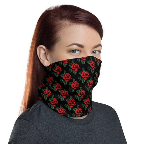 12 in 1 Red Roses Neck Gaiter Face Mask-Neck Gaiter-Eat me!