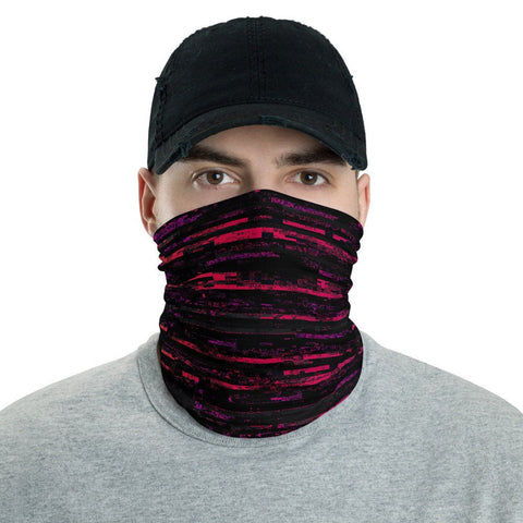 12 in 1 Glitch Stripes Neck Gaiter Face Mask-Neck Gaiter-Eat me!