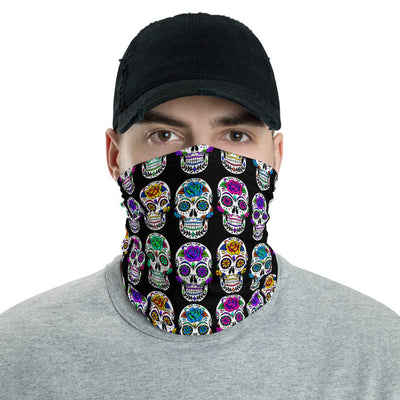 12 in 1 Sugar Skull Neck Gaiter Face Mask-Neck Gaiter-Eat me!