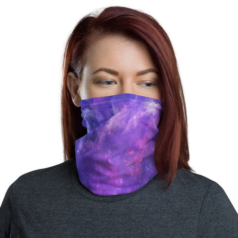 12 in 1 Purple Galaxy Neck Gaiter Face Mask-Neck Gaiter-Eat me!